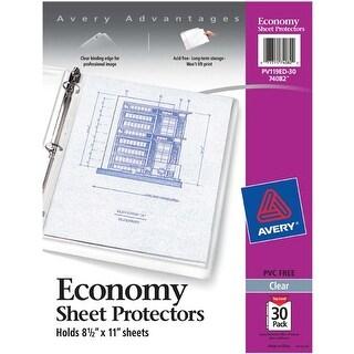 Acid-Free - Avery Economy Clear Sheet Protectors 30/Pkg