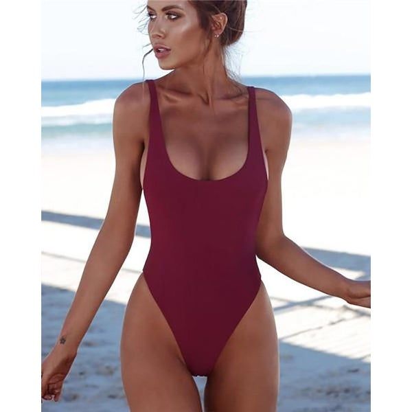 589a320c28216 Shop thong one piece swimsuit backless monokini-Burgundy-Small ...