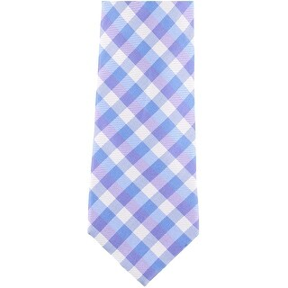 Club Room Mens Diamond Self-tied Necktie, blue, One Size - One Size