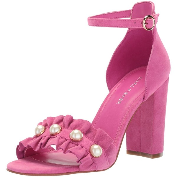 Marc Fisher Women's King Sandal, Dark Pink, Size 10.0 - 10