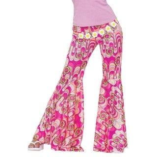 Forum Novelties Flower Power Bell Bottoms Adult Costume - Pink - Standard