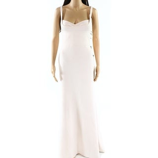 Vera Wang NEW Pink Womens Size 8 Bustier Seamed Mermaid Jersey Gown