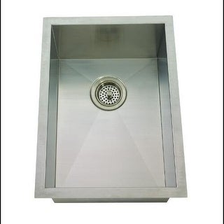 "Mirabelle MIRUC1520Z 15"" Single Basin Stainless Steel Bar Sink - Undermount Inst"