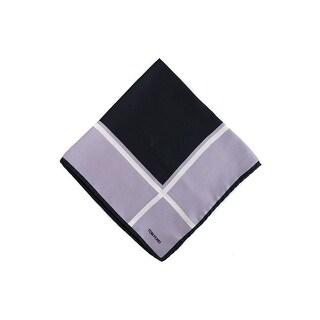 Tom Ford Mens Lavender Window Pane Silk Pocket Square - One size