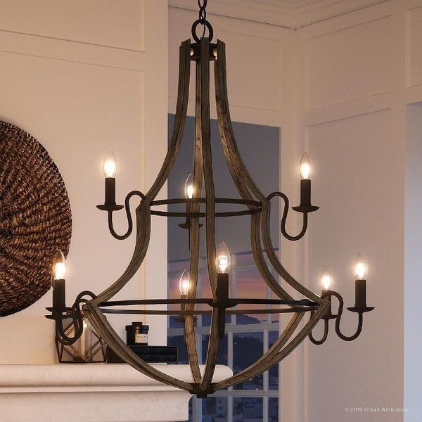 "Farmhouse Entryway Chandelier: Shop Luxury Farmhouse Chandelier, 34.75""H X 32.5""W, With"