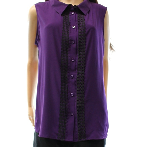 023dfb1db Shop Tommy Hilfiger NEW Purple Womens XS Contrast Button Down Shirt ...