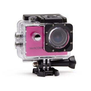 TechComm SPH9 Ultra 4K 16MP Waterproof Action Camera with Accessories (Option: Pink)