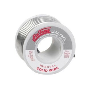 Alpha 23945 Flow-Temp Lead-Free Solid Wire Solder, 8 Oz