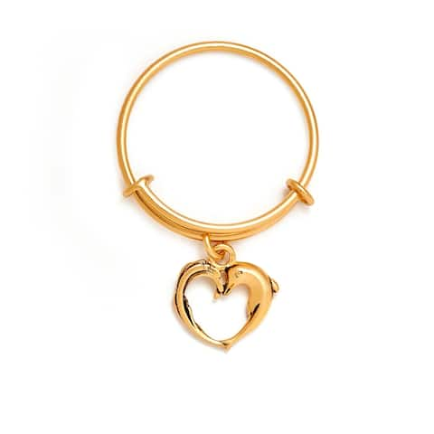 Aphrodite's Heart Expandable Ring, Yellow Gold Plated