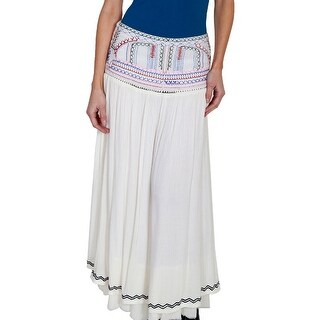 Scully Western Skirt Womens Cantina Embroidery Natural