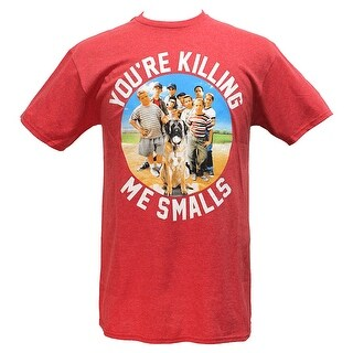 The Sandlot Men's Group Shot You're Killing Me Smalls Red Heather T-Shirt
