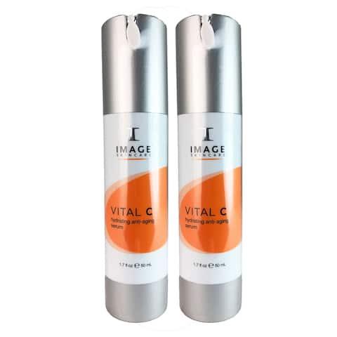 Image Vital C Hydrating Anti-aging Face Serum 1.7 oz ea TWO