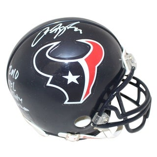 Arian Foster Autographed Houston Texans Mini Helmet 2010 Rush Leader JSA