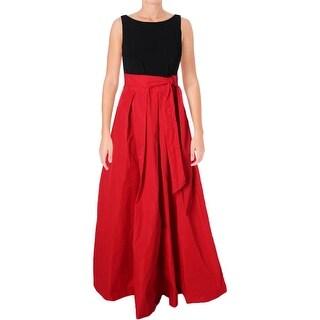 Lauren Ralph Lauren Womens Formal Dress Colorblock Sleeveless