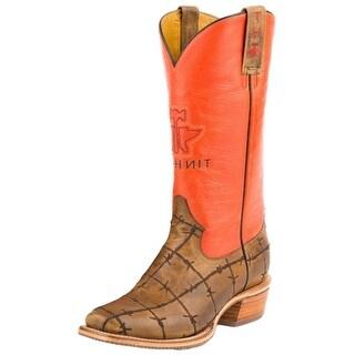 Tin Haul Western Boots Mens Barbwire Prime Tan 14-020-0011-0701 TA