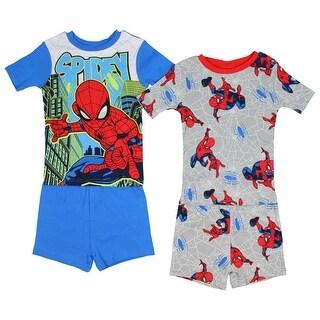 Marvel Spider-Man Boys' Glow In The Dark 2 Cotton Sleepwear Pajama Sets