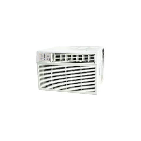 Koldfront WAC18001W 18,500 BTU 208/230V Window Air Conditioner with 16,000 BTU Heater with Remote Control - White