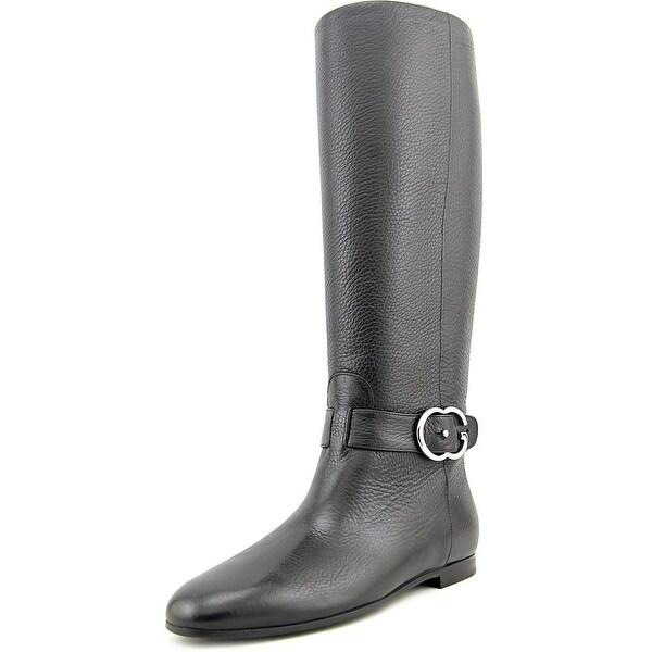 619dc48dc Shop Gucci Cellarius Soft Women Round Toe Leather Black Knee High ...