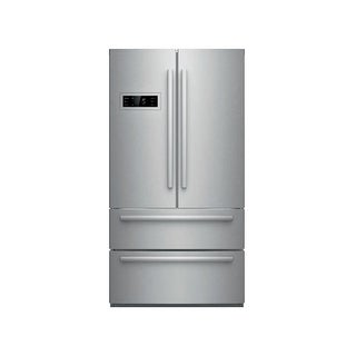 Bosch B21CL80SN 36 Inch Wide 21 Cu. Ft. French Door Refrigerator with Super Freeze
