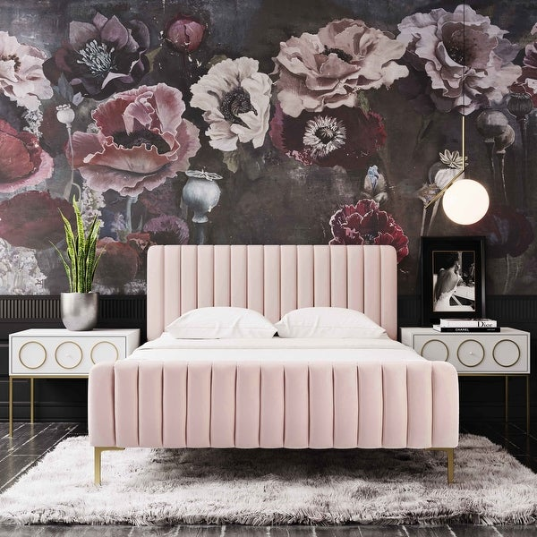 Silver Orchid Chatterton Velvet Bed. Opens flyout.