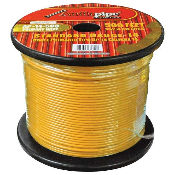Audiopipe 14 Gauge 500Ft Primary Wire Yellow