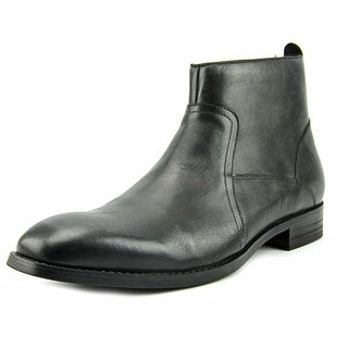Kenneth Cole Reaction Crisis Ave-Rted Boot Men Round Toe Leather Gray Ankle Boot