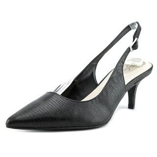 Alfani Babbsy Women Pointed Toe Synthetic Black Slingback Heel