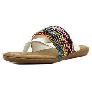 Baretraps Rodeo Youth Open Toe Synthetic White Thong Sandal