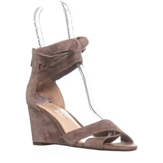 Jessica Simpson Cyrena Ankle Strap Wedge Sandals, Warm Taupe