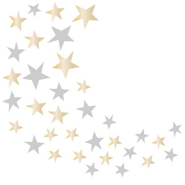 Lambs & Ivy Signature Jamboree Metallic Gold/Silver Celestial Stars Nursery Wall Decals. Opens flyout.