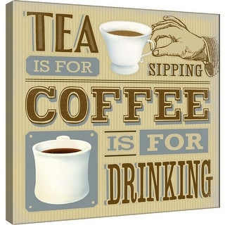 """PTM Images 9-100022  PTM Canvas Collection 12"""" x 12"""" - """"Coffee is For Drinking"""" Giclee Coffee Art Print on Canvas"""
