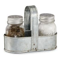 Fresh Jar Salt and Pepper Shaker Caddy Set - 3.5 in. x 4.5 in.