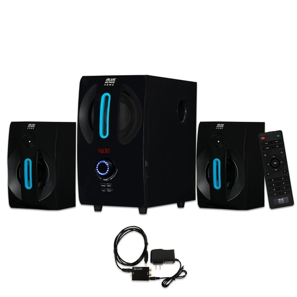 Blue Octave B22 Home 2.1 Powered Speaker System with USB / SD and Optical Input