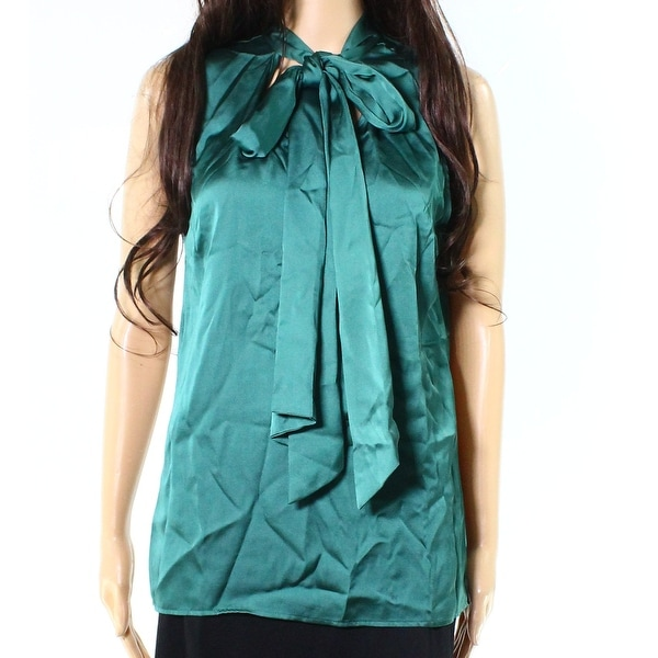 7e6ee0879c7985 Shop IMAN NEW Emerald Green Womens Size Medium M Front-Tie Sleeveless Blouse  - Free Shipping On Orders Over  45 - Overstock - 18904262