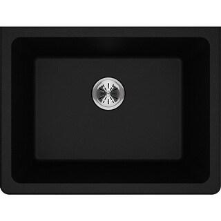 "Elkay ELGU251912PD  Quartz Classic 25"" Undermount Single Basin Quartz Utility Sink"