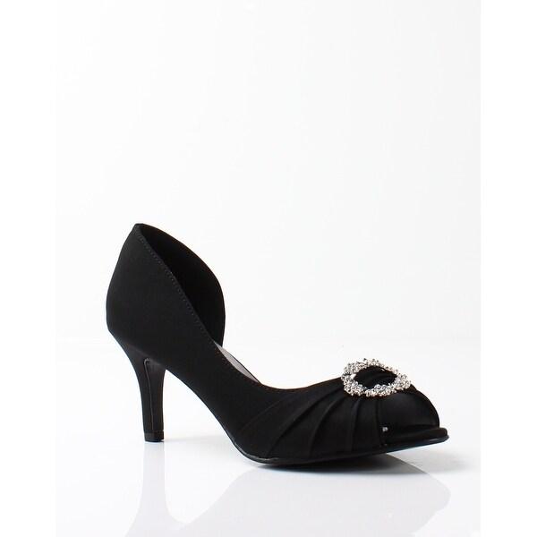 Touch Ups NEW Black Women's Shoes Size 5.5M Olivia Peep Toe Pump