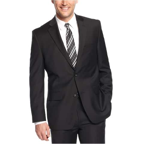 Greg Norman Mens Professional Two Button Blazer Jacket, Black, 40 Regular