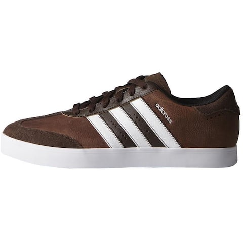 Adidas Men's Adicross V Brown/White/Eqt. Green Golf Shoes F33393/F33428 (Medium Width)