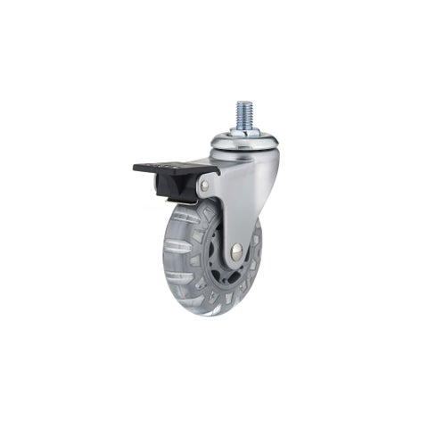 Richelieu 27583020502 100 lb. Maximum Weight Capacity Swivel Mount Caster with Brake - Light grey - N/A