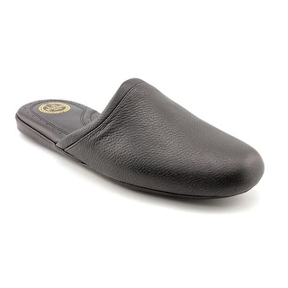 L.B. Evans Arisotocrat SC3 Men Round Toe Leather Black Slipper