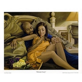 ''Midnight Snack'' by Henry Lee Battle African American Art Print (24 x 36 in.)