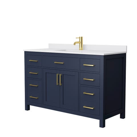 Beckett 54-Inch Transitional Marble Top Single Vanity