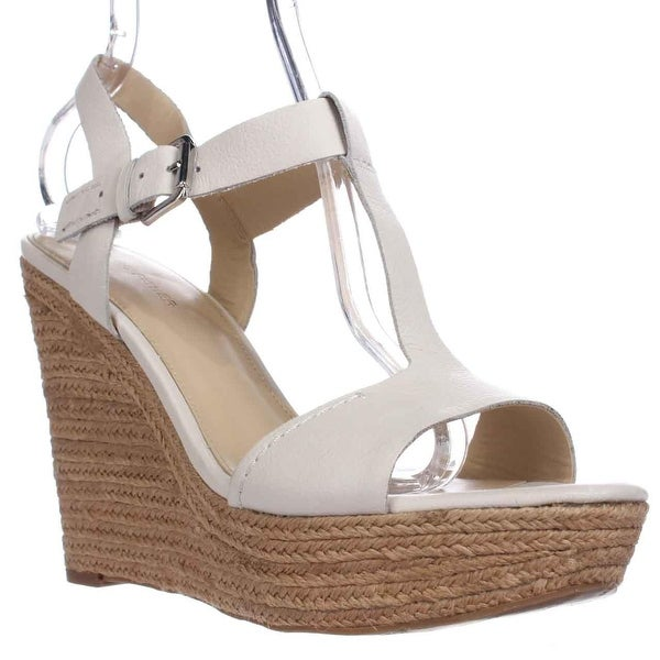 598dc0f448 Shop Marc Fisher Harlei Espadrille Wedge Sandals, Ivory - Free ...