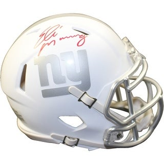 Eli Manning New York Giants Riddell Ice Alternate White Speed Mini Helmet