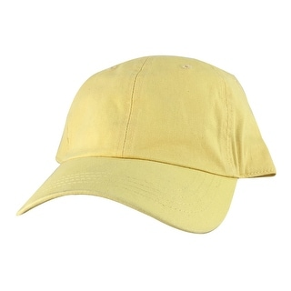 CapRobot Style#101 Unstructured Low Profile Strapback Hat Dad Cap - Yellow