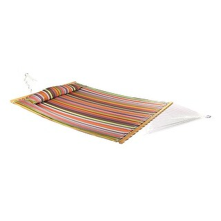 Sunnydaze Quilted Double Fabric 2-Person Hammock with 15-Foot Stand