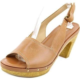 Naturalizer Honey Women  Open Toe Leather Tan Platform Sandal
