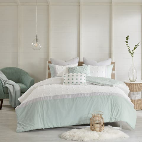 Urban Habitat Jojo Ivory 7 Piece Cotton Jacquard Comforter Set