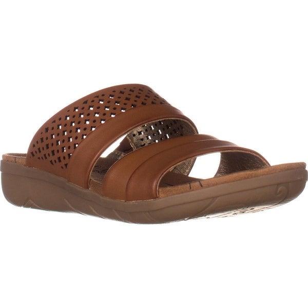 BareTraps Jimina Flat Comfort Slide Sandals, Brush Brown