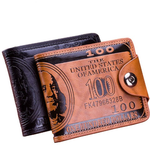 Men Wallet Short Dollar Price Leather Wallets Clutch Money Purse Men Bags High Quality